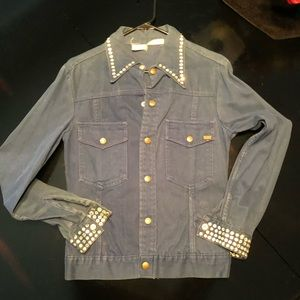 VINTAGE-1960's Jean studded jacket/shirt!!!